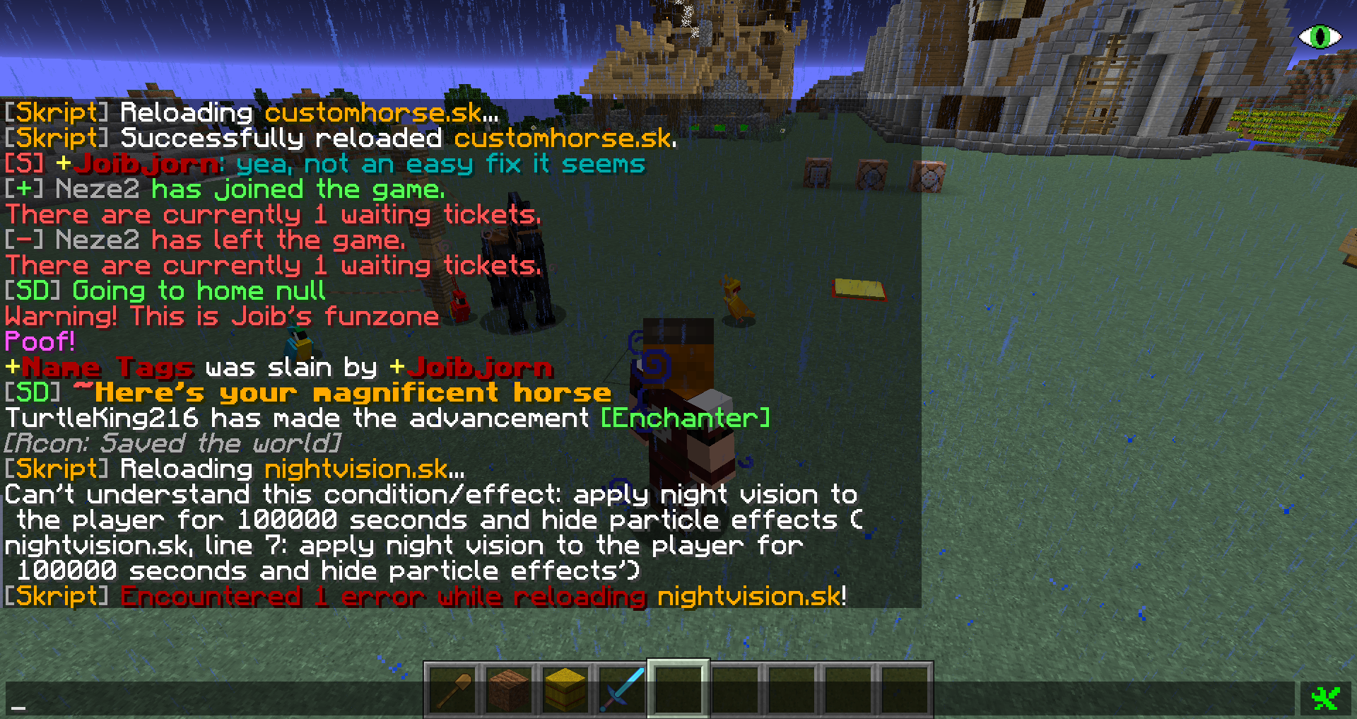 minecraft night vision effect command